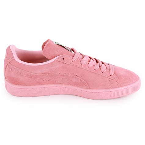 pumas shoes suede classic womens suede trainers light pink new