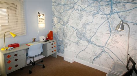 diy map wallpaper printed space map style