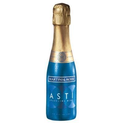 Martini Asti Mini Bottle Teal Gold
