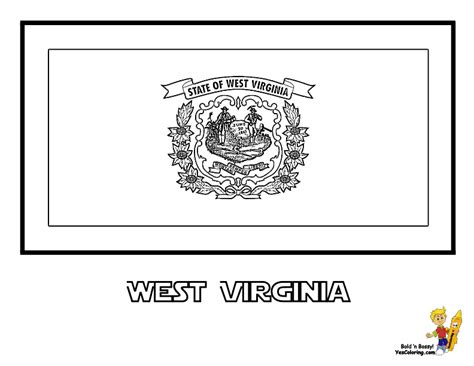 Noble Usa Flags Printables State Flags Nebraska Virginia State Flag Coloring Page