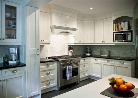 white granite countertops transitional kitchen
