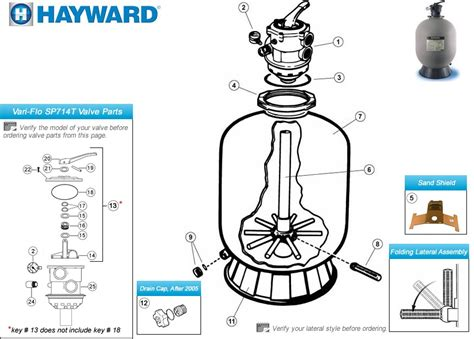 sand filter parts diagram hayward sand filter s180t s210t s220t s244t parts