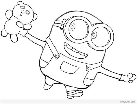 coloring pages of minion bob 20 minion coloring pages timykids
