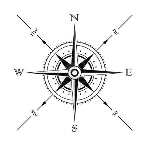 simple compass tattoo design vector wind rose compass silhouette stock photo 3282536