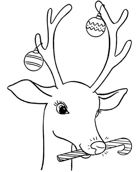 coloring pages deer rudolf planse si desene de colorat pentru craciun renul lui mos