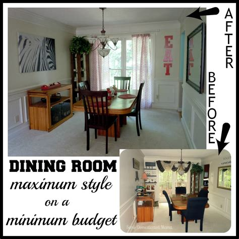 Dining Room Makeovers On A Budget by Before After Budget Dining Room Makeover