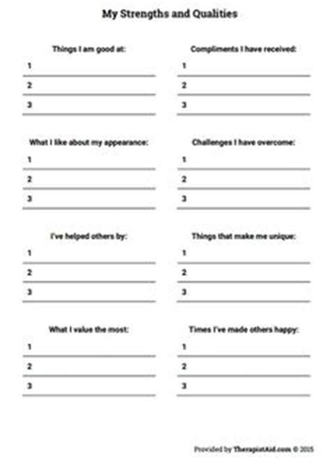 Depression Worksheets For Adults by Free Worksheets And Printables To Use With