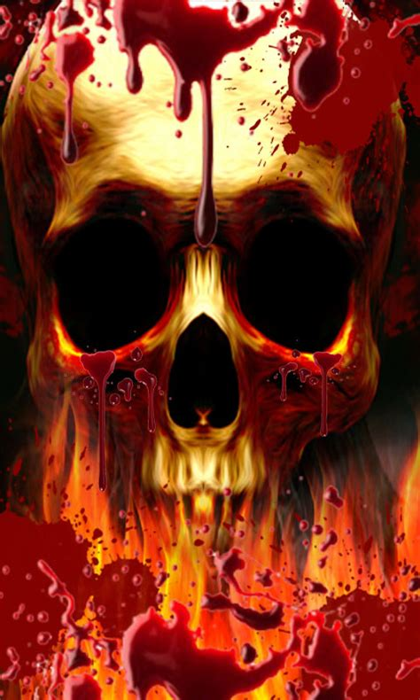 amazoncom blood drop skull  fire lwp appstore  android