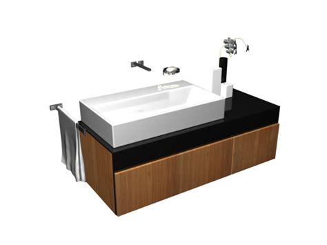 Vessel Sinks And Vanity Combo by Vessel Sink Vanity Combo 3d Model 3dsmax Files Free