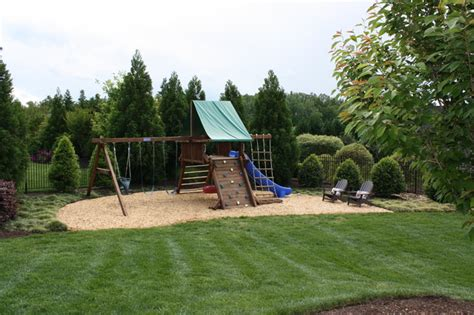 backyard play area traditional landscape other metro