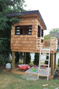 dirt digging diy modern playhouse