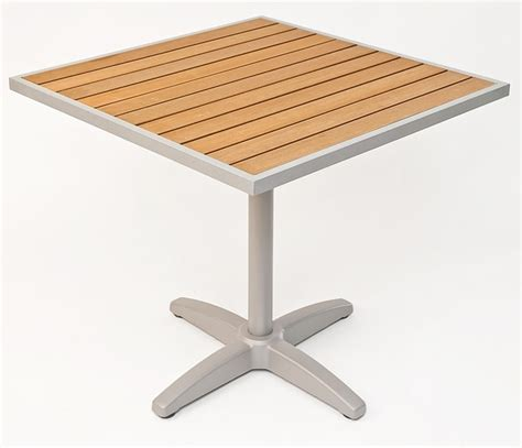 Outdoor Table Top by 24 Square Synthetic Teak Outdoor Table Top With Silver