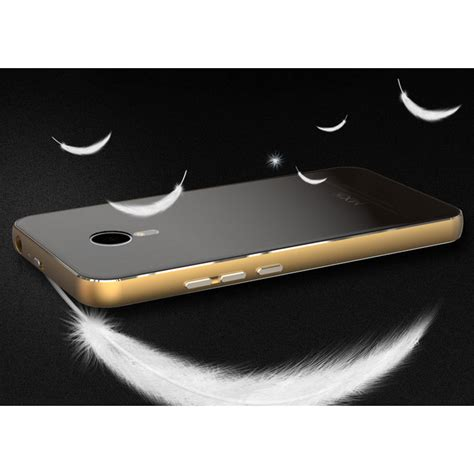 Aluminium Bumper With Mirror Back Er For Meizu Meizu Mx5 Hitam Silver aluminium bumper with mirror back cover for meizu mx5