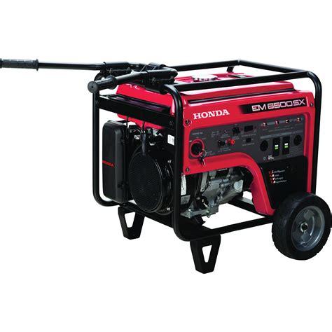 portable electric generator honda em6500s iavr series portable generator 6500 surge
