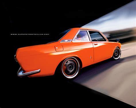 street tuner cars super street wallpaper car 1971 nissan bluebird classic