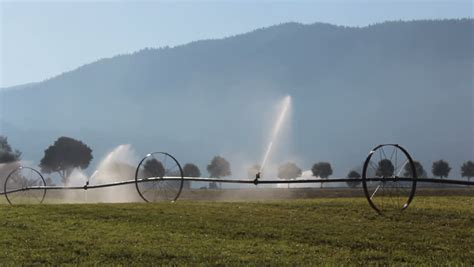 Landscape Irrigation Definition Irrigation Wheels Are Used For Watering A Freshly Seeded