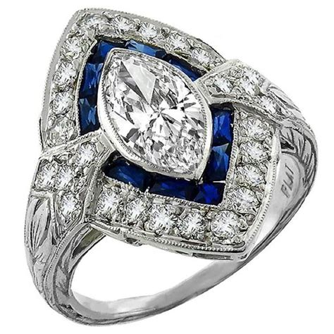 10 40 Ct Sapphire 1 18 carat marquise cut sapphire ring for sale at