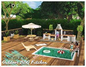 Backyard Kitchen Designs by Sims 4 Designs Mensure Bbq Outdoor Kitchen Set Sims 4
