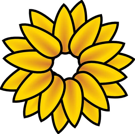 mature flower diagram clip art at clkercom vector clip black and white sunflower drawing clipart panda free