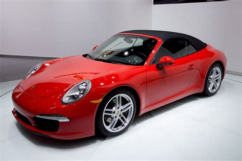 red porsche convertible file 2012 naias red porsche 991 convertible world