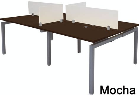 4 person workstation desk 4 person benching workstation w 48 quot x 28 quot worksurfaces
