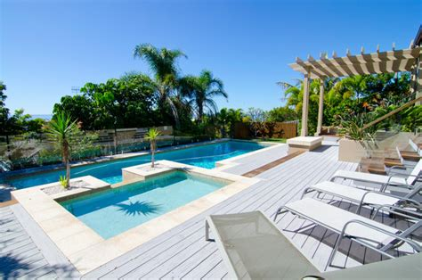 Backyard Makeover Modern Pool Sunshine Coast By Backyard Makeover With Pool