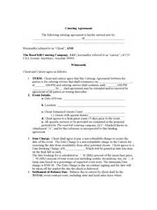 Sle Catering Contract Template by Catering Contract Template 6 Free Templates In Pdf Word Excel
