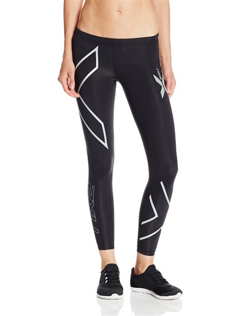 Celana 2xu Compression Tights For Size S Black galleon 2xu s compression tights black silver logo medium