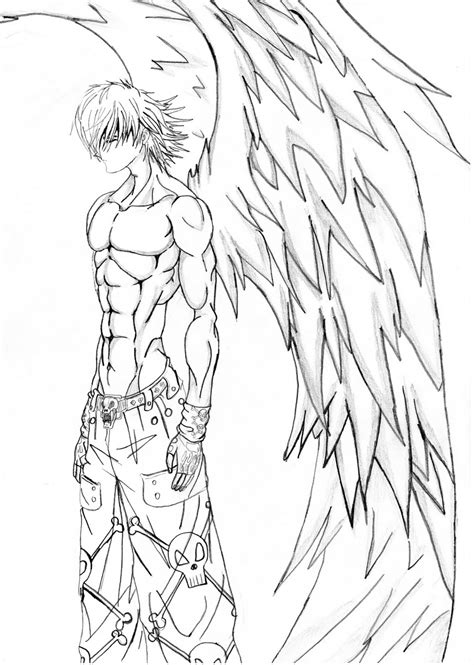 anime dark angel coloring pages