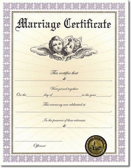 How To Get Marriage Records Custom Marriage Certificate Ii Get Ordained And How To