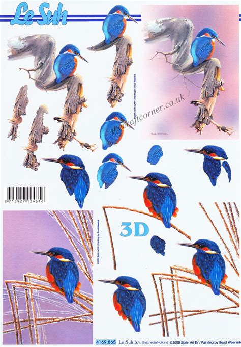 Step By Step Decoupage - kingfisher 3d step by step decoupage sheet