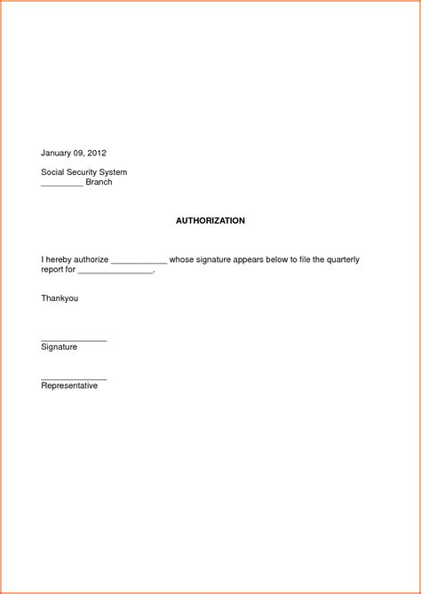 letter format of authorization sle of authorization letter sle letter of