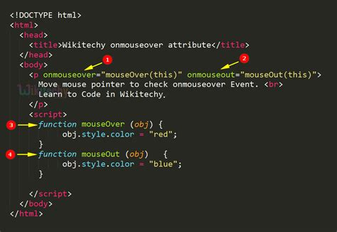Html Tutorial Mouseover | html tutorial onmouseover attribute in html html5