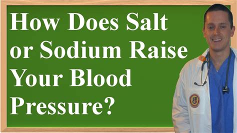 what does a salt l do how does salt sodium raise your blood pressure youtube