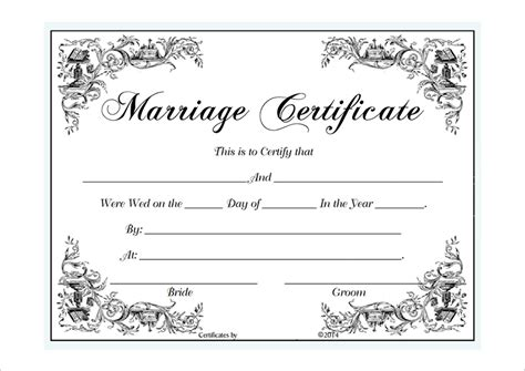 wedding certificate templates marriage certificate template microsoft word selimtd