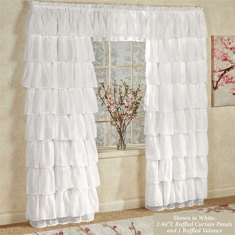 ruffled drapes gypsy sheer voile ruffled window treatment