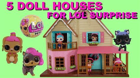 5 dollhouse dolls 5 dollhouse for lol dolls series 1 2 and lol