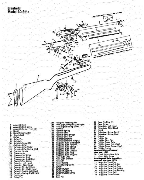marlin glenfield model 60 parts diagram marlin model 60 the firing line forums