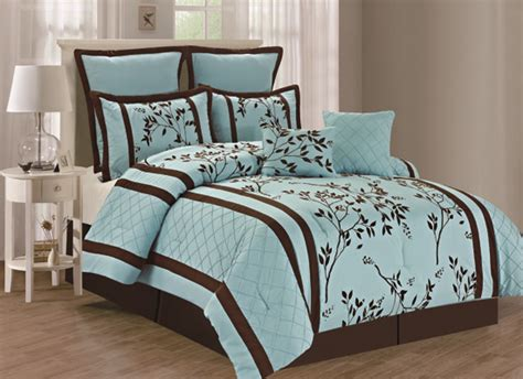 aqua and brown comforter sets duck river textile eight piece comforter sets
