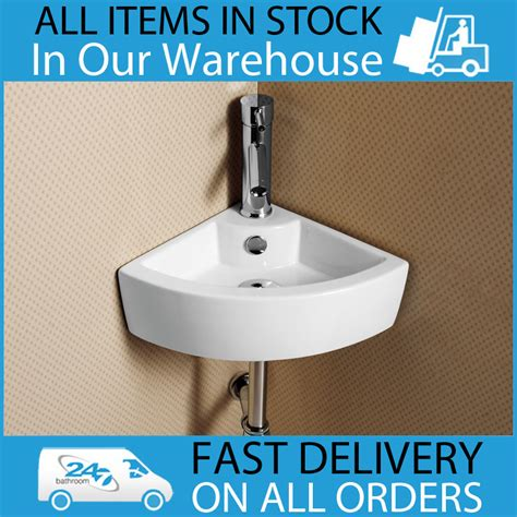 corner wash sink ceramic wall mounted 1th white cloakroom bathroom corner