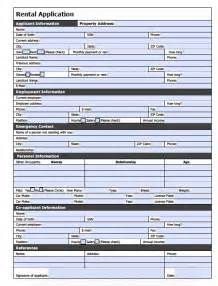 house rental application printable sle rental application form pdf form real