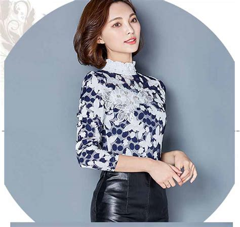 blouse wanita brukat lengan panjang cantik model terbaru