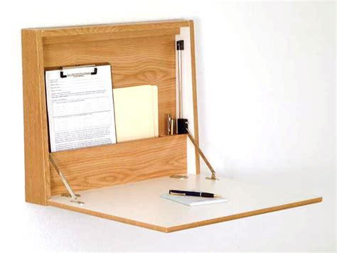 corner wall desk wooden mallet wall desk with hinged closure wd17 21