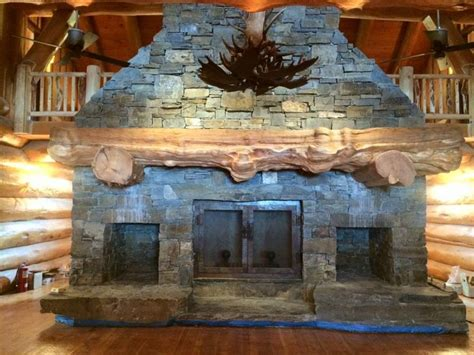 stone and wood fireplace massive stone fireplace and wood mantel made out of