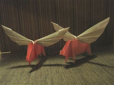 Origami Flying Pig - the world s catalog of ideas