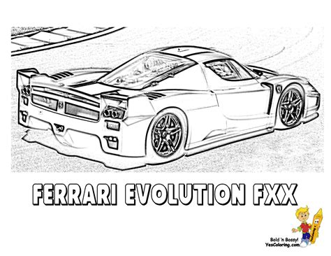 free ferrari coloring pages book for kids boys com ferrari fxx colouring pages picture to pin on pinterest