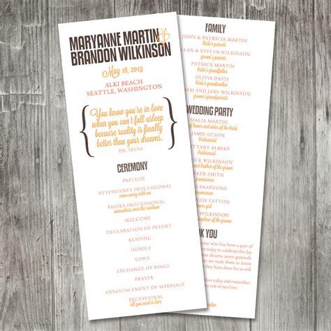 sle of wedding program wording program quotes quotesgram