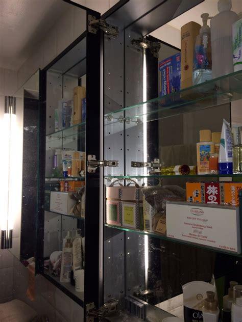 robern mp24d4fpn robern medicine cabinet with sagging mirror doors hometalk