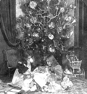 christmas decorations in the 1800s antique dolls from the 19th century