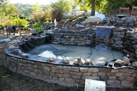 patio koi pond timber raised garden ponds raised koi pond patio